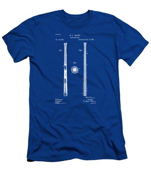 1885 Baseball Bat Patent Artwork - Blueprint Men's T-Shirt (Slim Fit) by Nikki Marie Smith