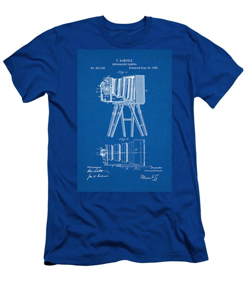 1885 Camera Us Patent Invention Drawing - Blueprint Men's T-Shirt (Athletic Fit)