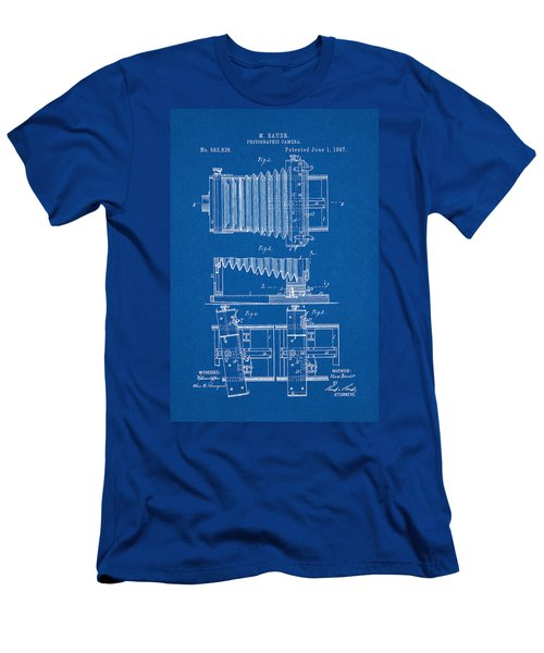 1897 Camera Us Patent Invention Drawing - Blueprint Men's T-Shirt (Athletic Fit)