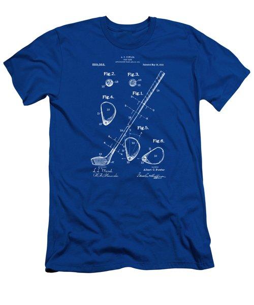 1910 Golf Club Patent Artwork Men's T-Shirt (Slim Fit) by Nikki Marie Smith