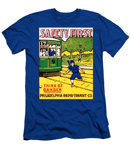 1915 Safety First In Philadelphia Men's T-Shirt (Athletic Fit)