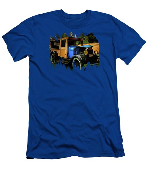 1929 Model A Ford Woody Truck Men's T-Shirt (Athletic Fit)