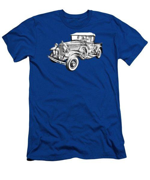 1930 Ford Model A Pickup Truck Illustration Men's T-Shirt (Slim Fit) by Keith Webber Jr