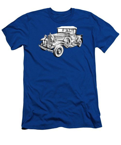 1930 Ford Model A Pickup Truck Illustration Men's T-Shirt (Athletic Fit)