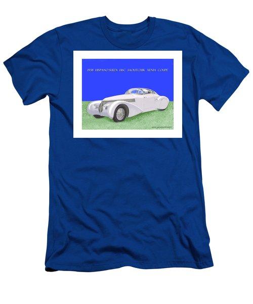 1938 Hispano Suiza H6c Saoutchik Xenia Coupe Men's T-Shirt (Slim Fit) by Jack Pumphrey