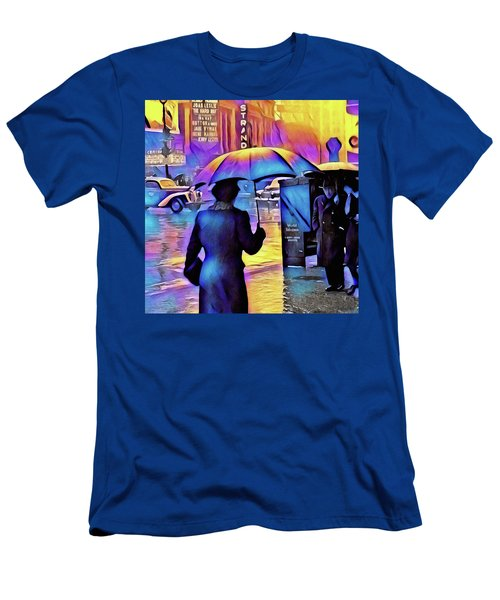 1940s Times Square Rain IIl Men's T-Shirt (Athletic Fit)