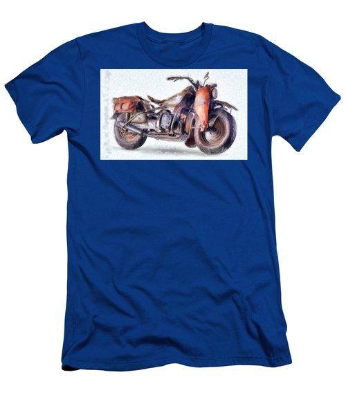 1942 Harley Davidson, Military, 750cc Men's T-Shirt (Athletic Fit)