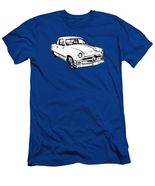 1950  Ford Custom Antique Car Illustration Men's T-Shirt (Athletic Fit)
