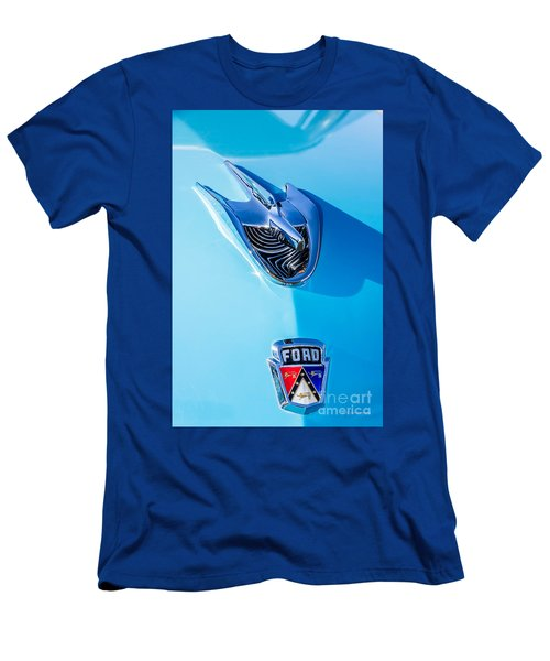 Men's T-Shirt (Slim Fit) featuring the photograph 1956 Ford Hood Ornament by Aloha Art