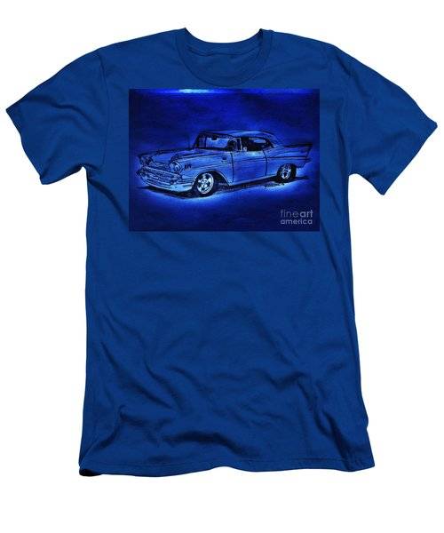 1957 Chevy Bel Air - Moonlight Cruisin  Men's T-Shirt (Athletic Fit)