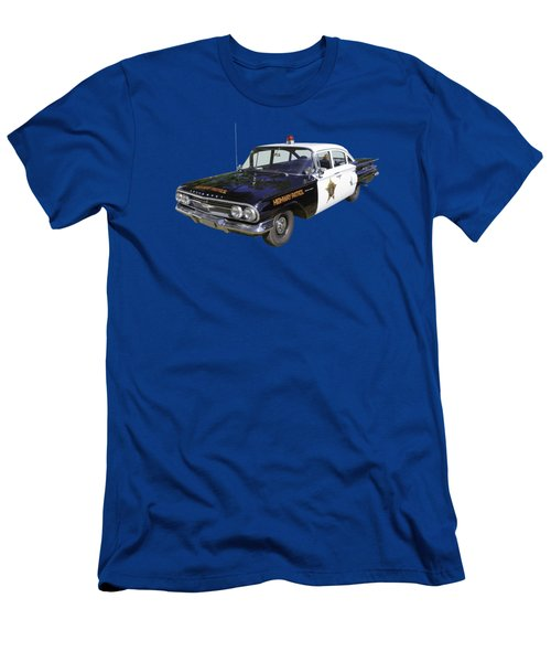 1960 Chevrolet Biscayne Police Car Men's T-Shirt (Athletic Fit)