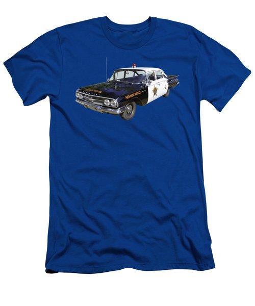 1960 Chevrolet Biscayne Police Car Men's T-Shirt (Athletic Fit)