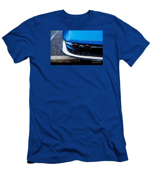 Men's T-Shirt (Slim Fit) featuring the photograph 1965 Corvette Sting Ray by M G Whittingham
