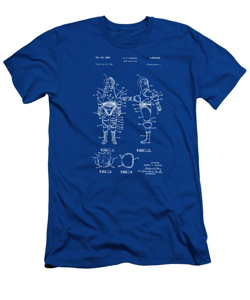 1968 Hard Space Suit Patent Artwork - Blueprint Men's T-Shirt (Athletic Fit)