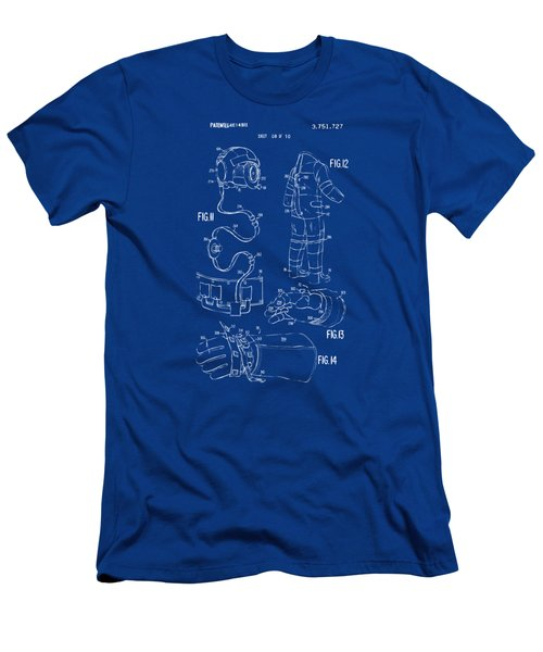 1973 Space Suit Elements Patent Artwork - Blueprint Men's T-Shirt (Athletic Fit)