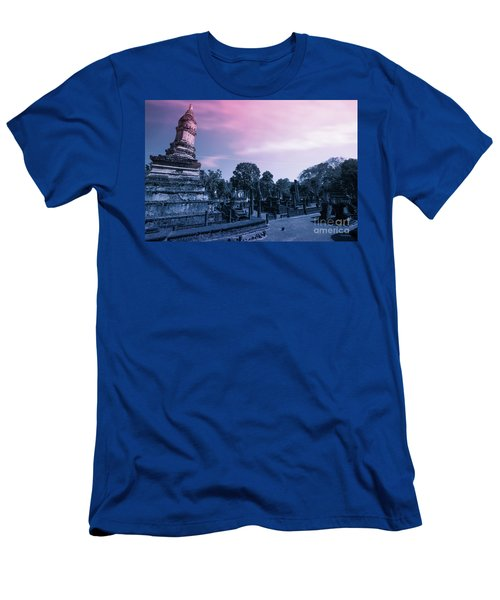 Artistic Of Chedi Men's T-Shirt (Slim Fit) by Atiketta Sangasaeng
