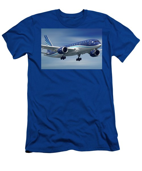 Azerbaijan Airlines Boeing 787 Dreamliner Men's T-Shirt (Athletic Fit)