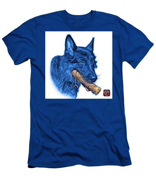Blue German Shepherd And Toy - 0745 F Men's T-Shirt (Athletic Fit)