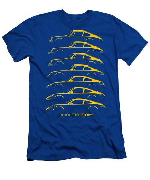 Boxer Sports Car Silhouettehistory Men's T-Shirt (Athletic Fit)
