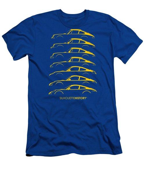 Boxer Sports Car Silhouettehistory Men's T-Shirt (Athletic Fit)