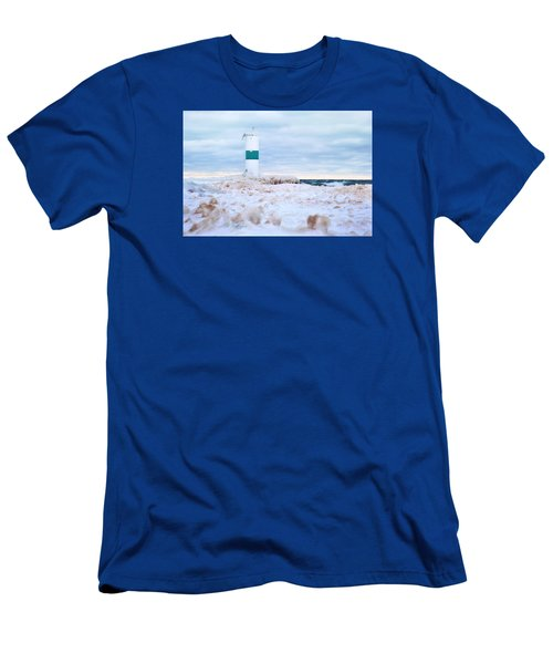 Men's T-Shirt (Athletic Fit) featuring the digital art Michigan Winter by Jill Wellington