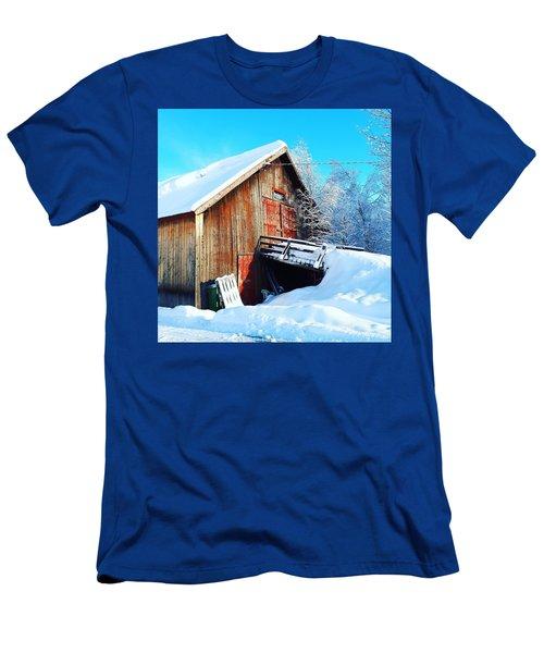 Norwegian Winter Landscape  Men's T-Shirt (Athletic Fit)