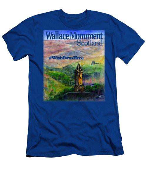 Wallace Monument Scotland Men's T-Shirt (Athletic Fit)