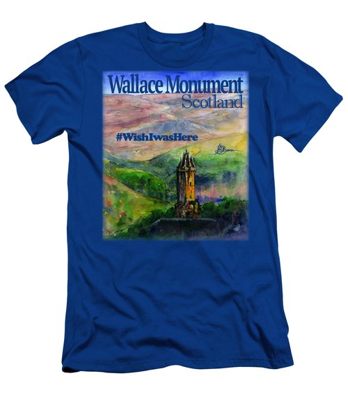 Wallace Monument Scotland Men's T-Shirt (Athletic Fit)