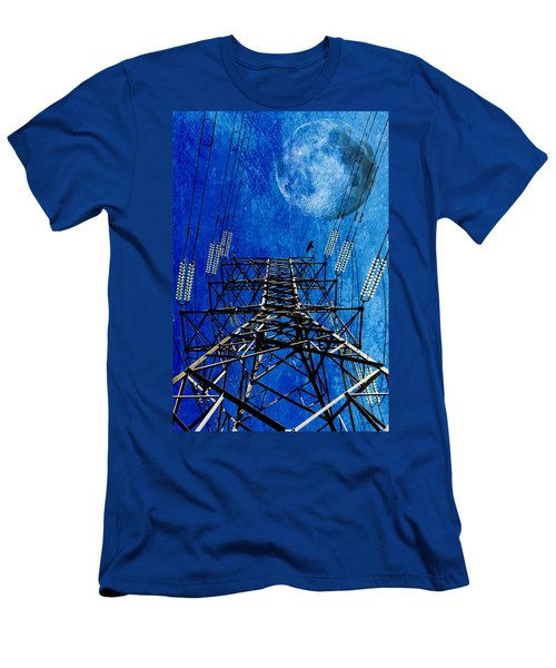 Electric Power Transmission... Men's T-Shirt (Slim Fit) by Werner Lehmann