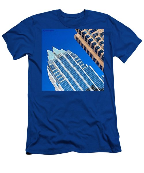 #beautiful #bluesky And The Frost Bank Men's T-Shirt (Athletic Fit)