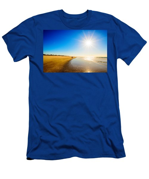 Men's T-Shirt (Slim Fit) featuring the photograph 3 On The Beach  by John Harding