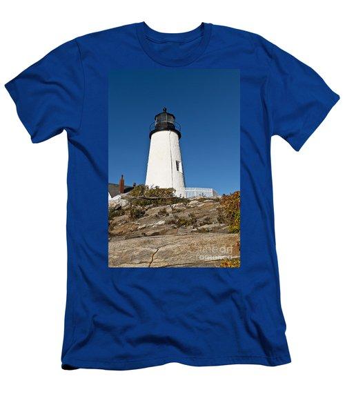 Pemaquid Point Light Men's T-Shirt (Athletic Fit)
