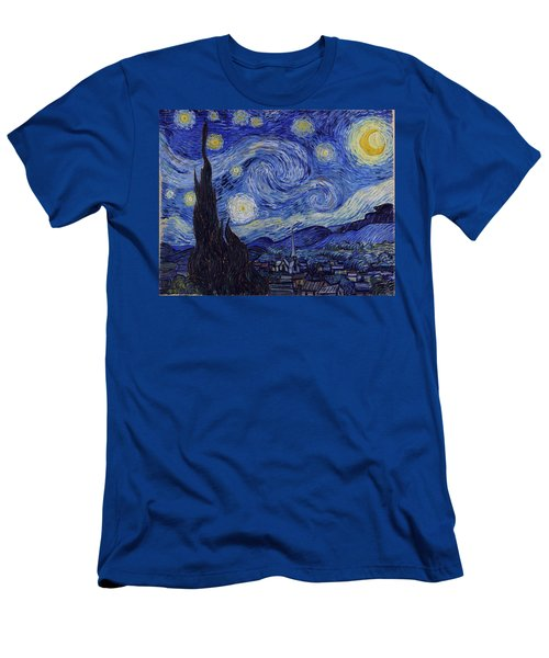 Men's T-Shirt (Athletic Fit) featuring the painting Starry Night by Van Gogh