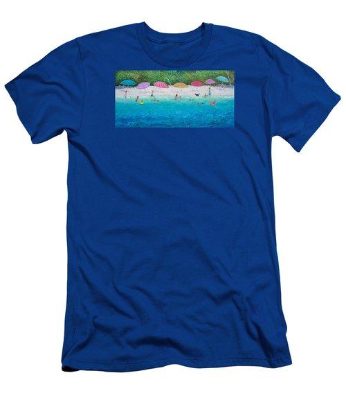Beach Umbrellas Men's T-Shirt (Athletic Fit)