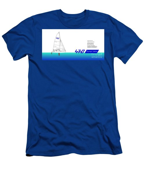 470 Olympic Sailing Men's T-Shirt (Athletic Fit)