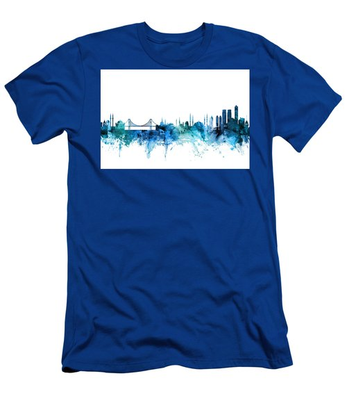 Istanbul Turkey Skyline Men's T-Shirt (Athletic Fit)