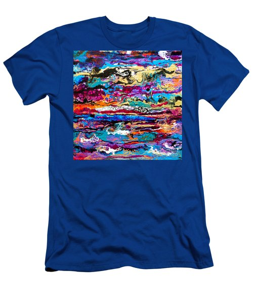 #521  Bright Swipe Men's T-Shirt (Athletic Fit)