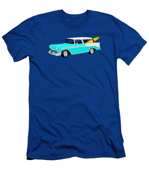 56 Chevy Nomad By The Sea In The Morning With Vivachas Men's T-Shirt (Athletic Fit)