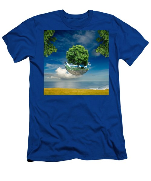 Men's T-Shirt (Athletic Fit) featuring the mixed media Latitude by Marvin Blaine