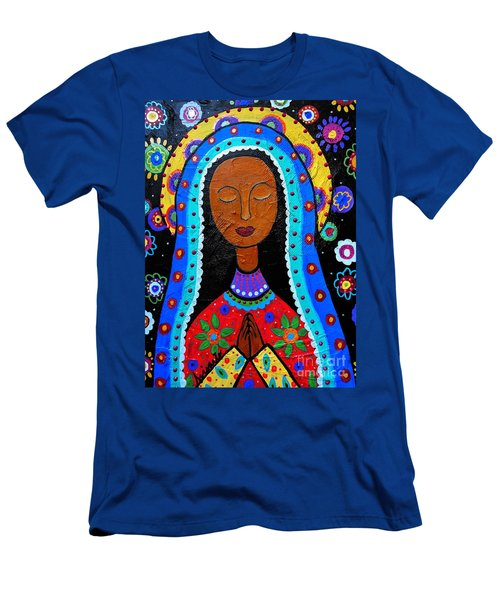 Our Lady Of Guadalupe Men's T-Shirt (Slim Fit) by Pristine Cartera Turkus