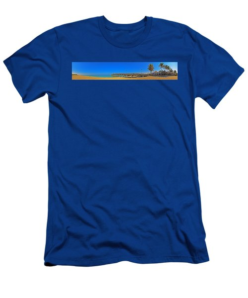 6x1 Venice Florida Beach Pier Men's T-Shirt (Athletic Fit)