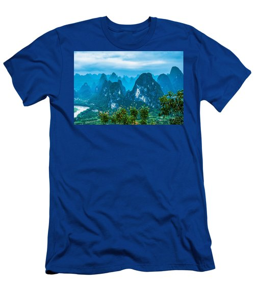 Karst Mountains Landscape Men's T-Shirt (Athletic Fit)