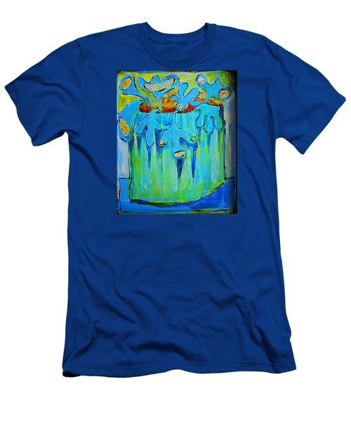 A Bucket Of Flowers Men's T-Shirt (Slim Fit) by DAKRI Sinclair
