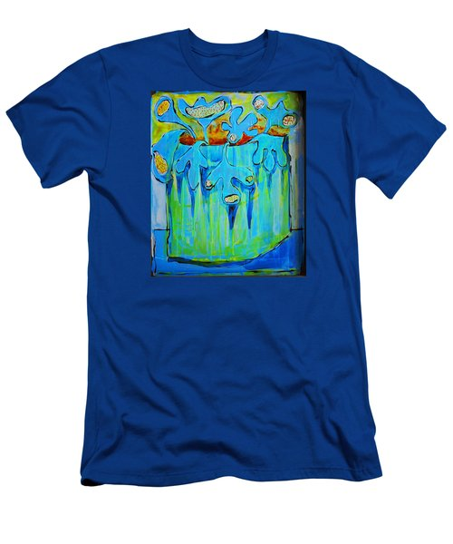 A Bucket Of Flowers Men's T-Shirt (Athletic Fit)