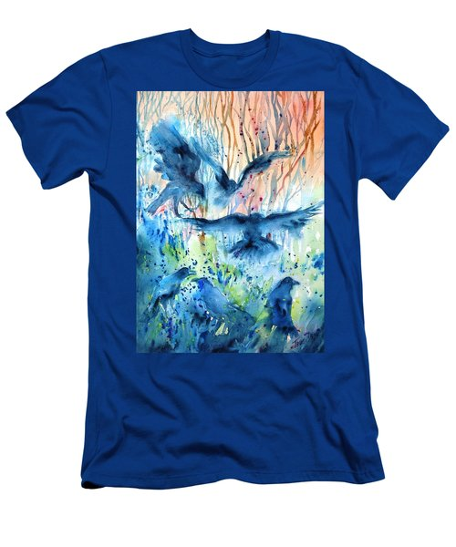 A Conspiracy Of Ravens  Men's T-Shirt (Slim Fit) by Trudi Doyle