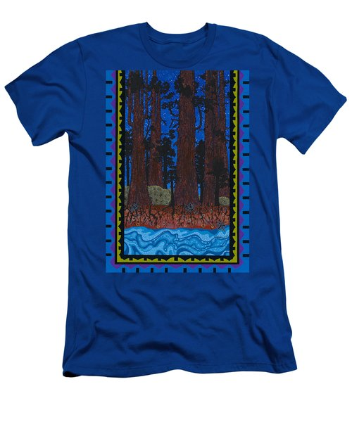Men's T-Shirt (Athletic Fit) featuring the painting A Forest Whispers by Chholing Taha