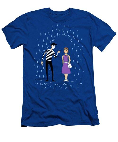 Men's T-Shirt (Slim Fit) featuring the digital art A Helping Hand by Ben Hartnett