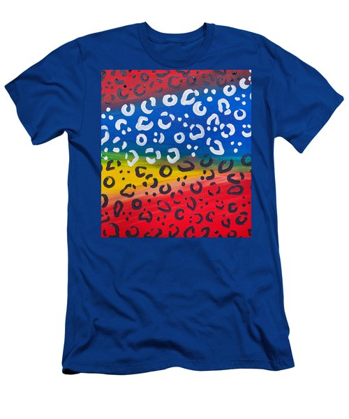Men's T-Shirt (Athletic Fit) featuring the painting A Leopard Cant Change His Spots by Aliya Michelle