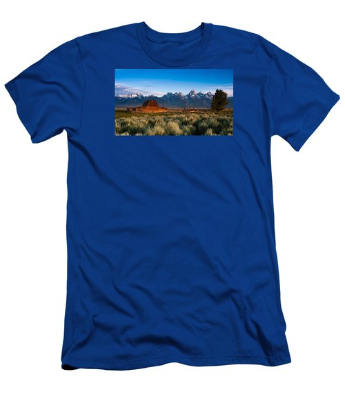 Men's T-Shirt (Slim Fit) featuring the photograph A Moulton Barn by Monte Stevens