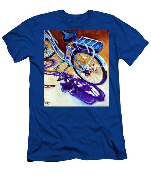 A Pedego Cruiser Bike Men's T-Shirt (Slim Fit) by Marcia Baldwin